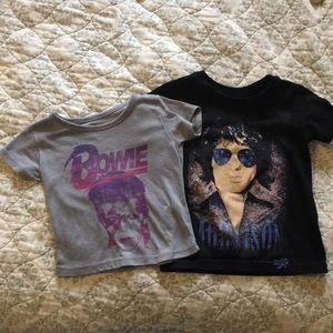12M David Bowie & 18M Jim Morrison Tee Bundle